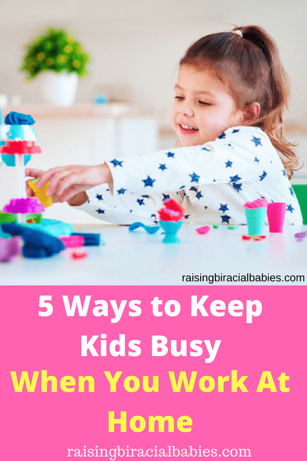 keep kids busy when you work at home | work at home mom | activities for kids | how to entertain kids when you work from home | quiet activities for kids