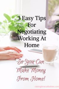 negotiate working from home