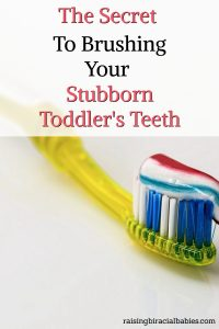 brush your toddler's teeth