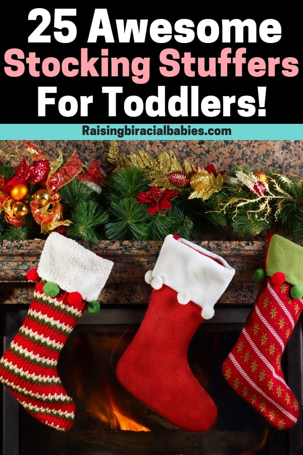 Stuck on holiday gift ideas for toddlers? Check out this list of stocking stuffers toddlers will actually love!