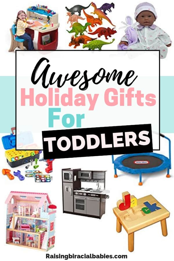 Looking for great gift ideas for toddlers? Look no further! This holiday gift guide for toddlers has toys both boys and girls will love! | toys for kids | toddler toys | gift guide | holiday gifts |