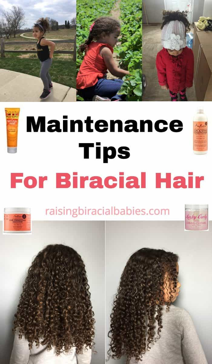 Wondering how to keep your child's mixed hair frizz free and protected through the elements? You need to read these biracial hair care tips for easy, actionable things you can do to protect your kid's hair!