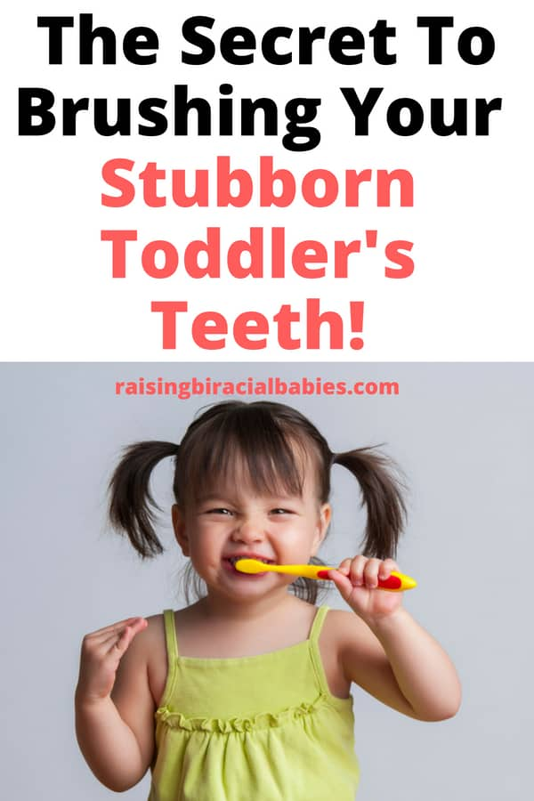 Do you have a toddler who HATES brushing their teeth? Are you at your wits end trying to figure out how to end the fight over brushing? You need this awesome technique to brush your toddler's teeth without the fight!