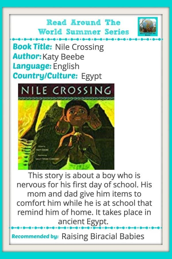 review of nile crossing | books for children | diverse books for kids | read around the world series |