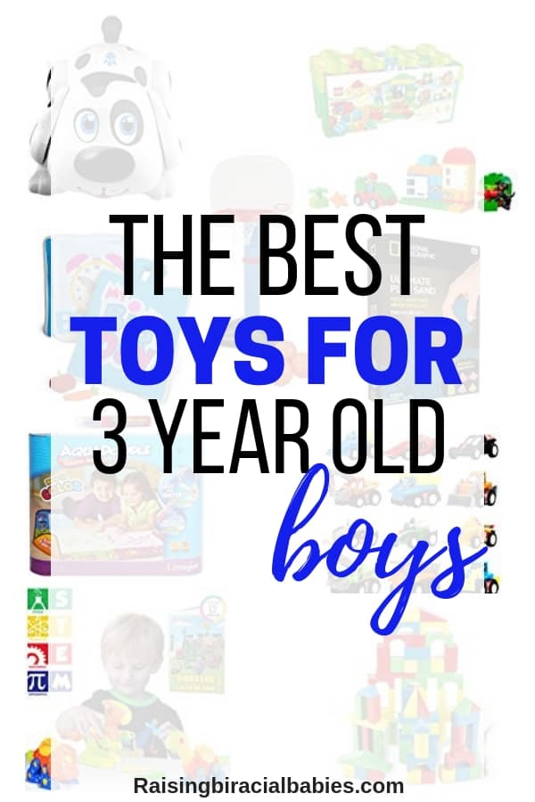 a collage of toys with text overlay that says the best toys for 3 year old boys
