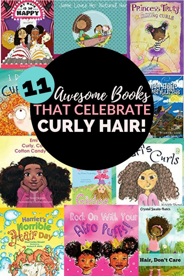 Looking for books that celebrate curly hair? Read this list for awesome books for girls with curly hair! | children's books | books for curly hair | parenting | girls |