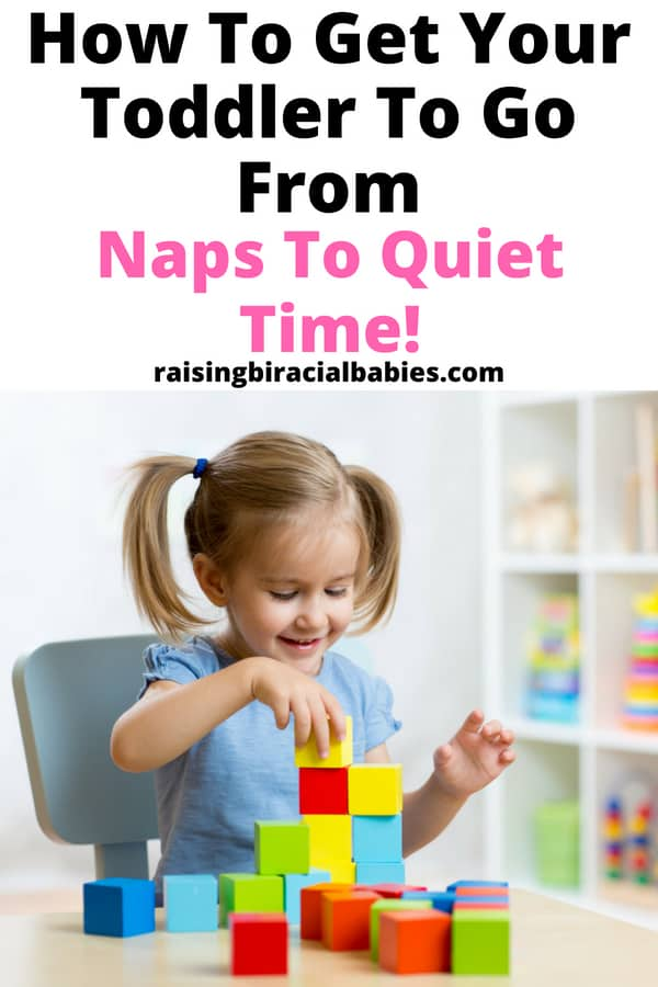 Has your toddler stopped napping? Use these tips for transitioning your toddler from naps to quiet time so you can still get some time to yourself! | toddler | nap time | quiet time | motherhood | mom life |