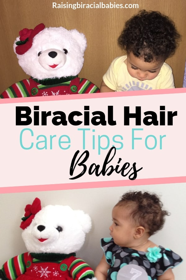 Mixed babies hair texture can change a lot! These tips on biracial hair care for babies will help you understand how to care for your biracial baby's hair from birth up to when their natural hair texture and curl pattern emerges! | mixed hair care | biracial hair care for babies | curly hair tips | baby curly hair tips | natural hair tips for babies |