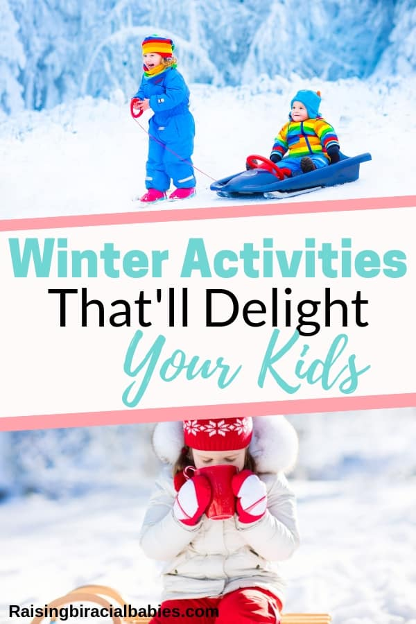 Wondering how to stay sane with your kids during the long frigid winter? These 30 winter activities for kids will have you guys loving winter in no time!