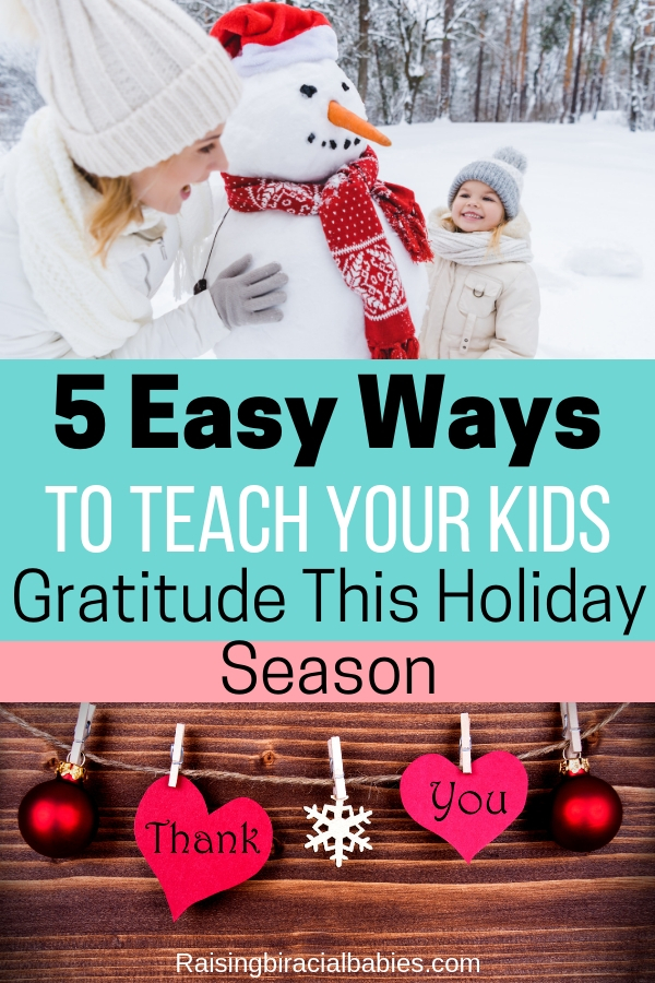 "Do you want to make sure your kids don't become spoiled ""gimme"" monsters this holiday season? You need to read these easy tips for teaching gratitude during the holidays to keep your kids grateful and not spoiled!"