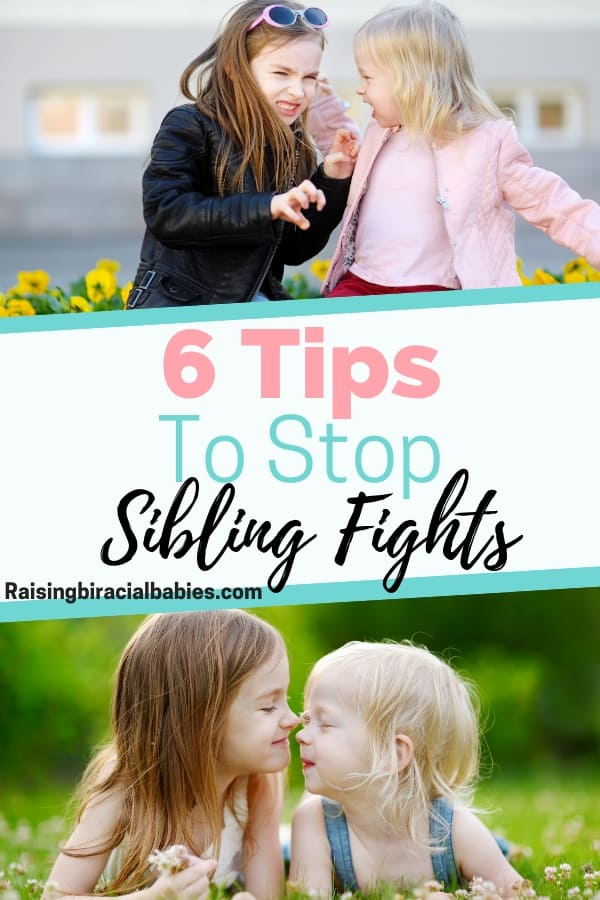 Sibling rivalry can cause a lot of friction in your home! It can get on your last nerve! But these 6 tips will help stop sibling fights for good! | parenting | sibling rivalry | parenting tips | mom life |