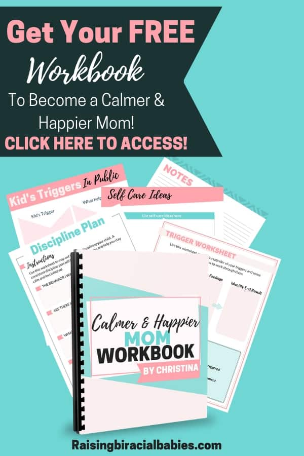 A great workbook to help moms get their frustration and emotions under control when dealing with their kids!