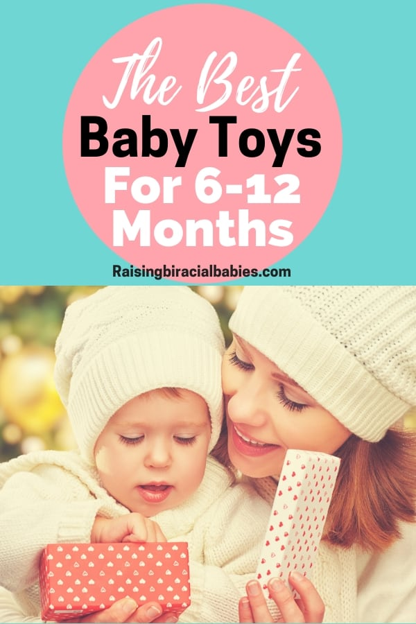 Looking for some great gift ideas for babies? This list has the best baby toys for ages 6-12 months! These toys are perfect for birthday presents and holiday gifts too!