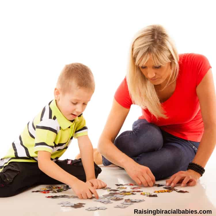 Puzzles are a fun mother and son date idea