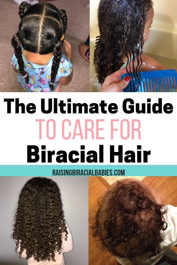 Learn how to get soft, defined, healthy biracial hair with these tips and techniques! You'll learn haircare routines for mixed hair, hairstyles for biracial curly hair, and the best products to use for mixed hair!
