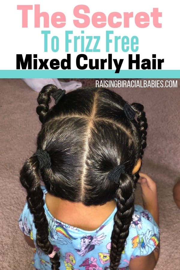 You may think it's impossible to have frizz-free biracial curly hair. But you can get rid of frizzy mixed hair! Here's the secret to get beautifully smooth mixed hair!