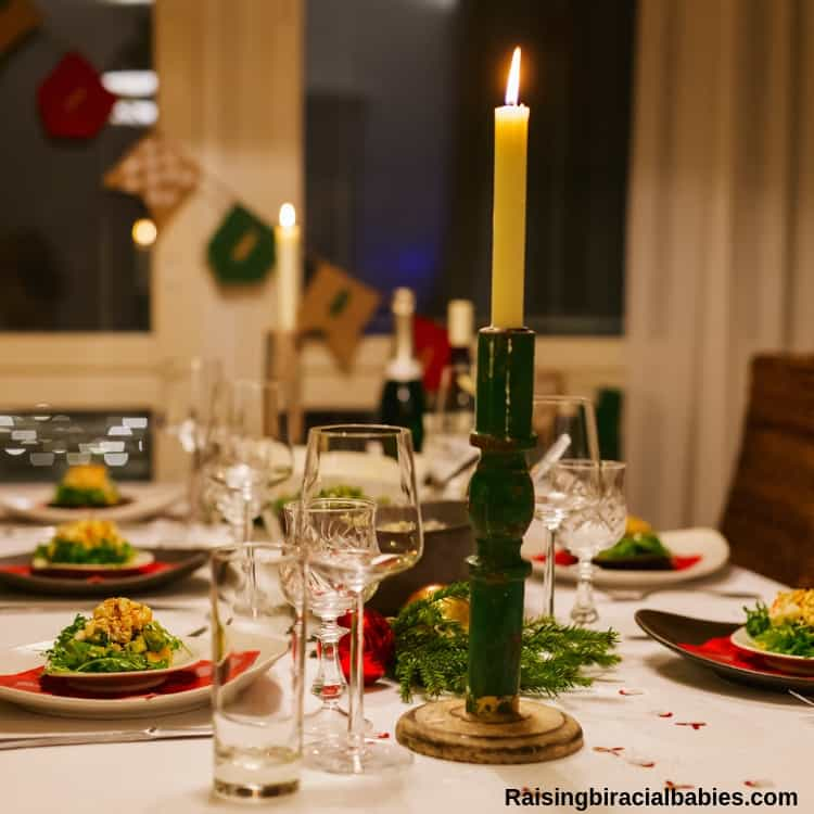 Hosting a holiday party at your house can be a great solution to reducing stress during christmas with a newborn.