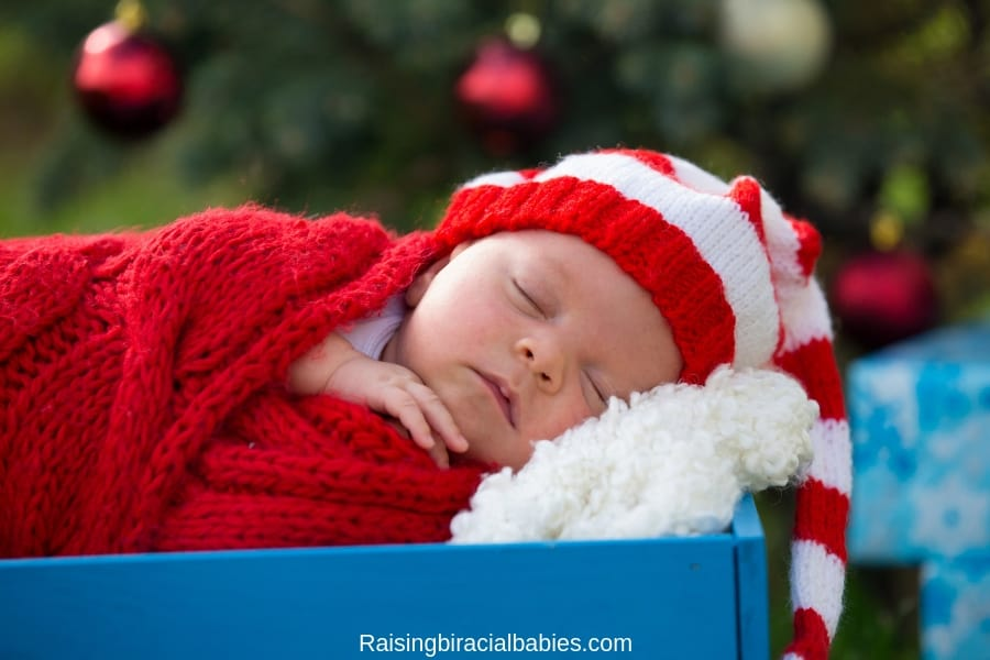 how to survive christmas with a newborn