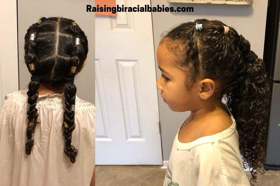 Mixed Girl Hairstyles: A Cute, Easy Style For Biracial Curly Hair (Tutorial)