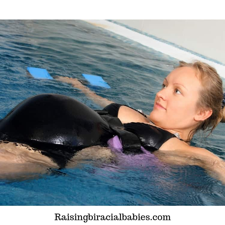 Swimming is a great cardio exercise for pregnant women.