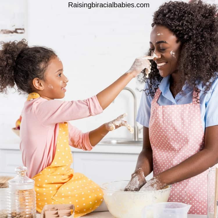 cooking together is a great family activity