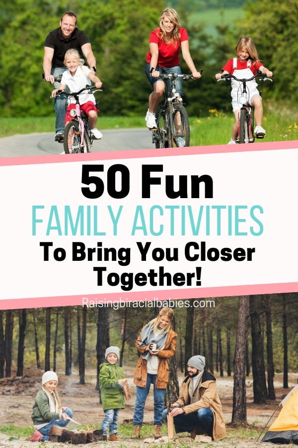 Are you sick of doing the same things with your family all the time? Check out this list of 50 indoor and outdoor family activities everyone will love to get some inspiration!