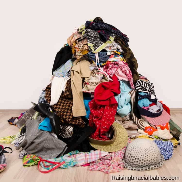 another helpful decluttering tip is going through your clothes and getting rid of what you don't wear anymore