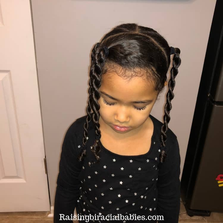 two strand twist, cute biracial hairstyle