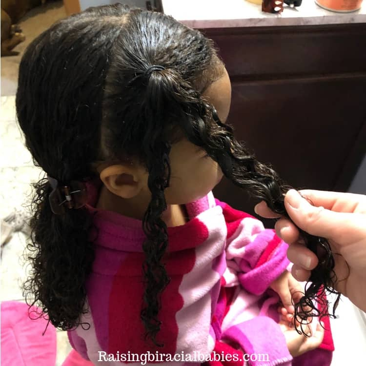 a two strand twist is a simple and cute biracial hairstyle