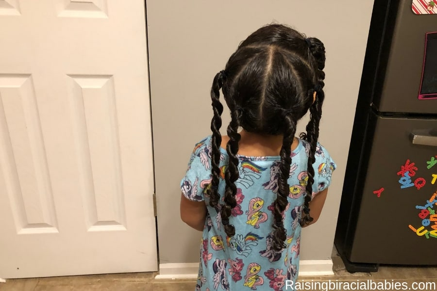Cute Biracial Hairstyle: How To Do A Two Strand Twist