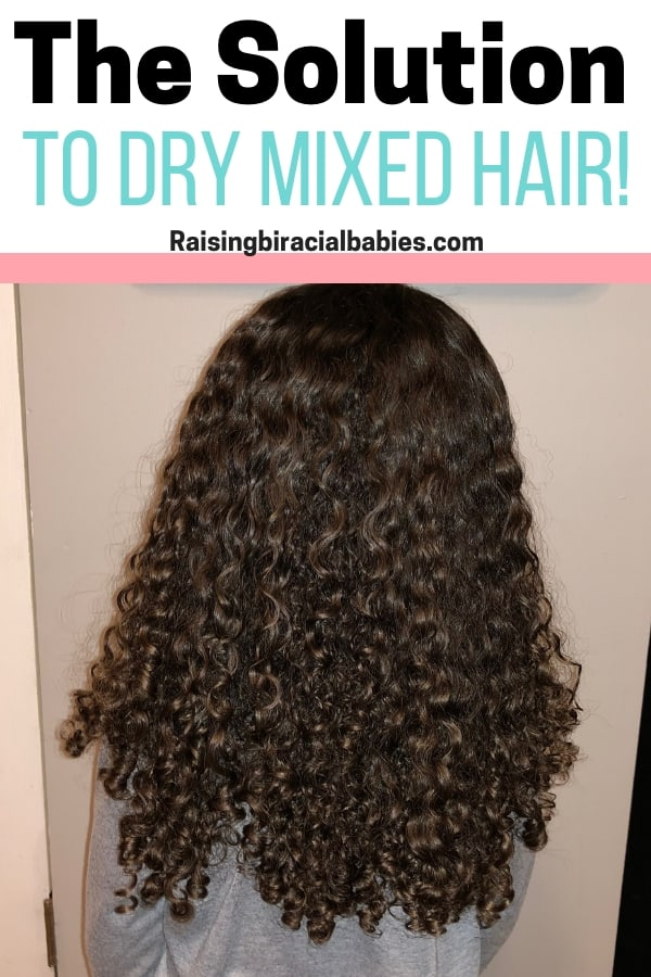 Have you been looking for ways to get rid of dry mixed hair? These tips give you everything you need to get soft, healthy biracial curly hair!