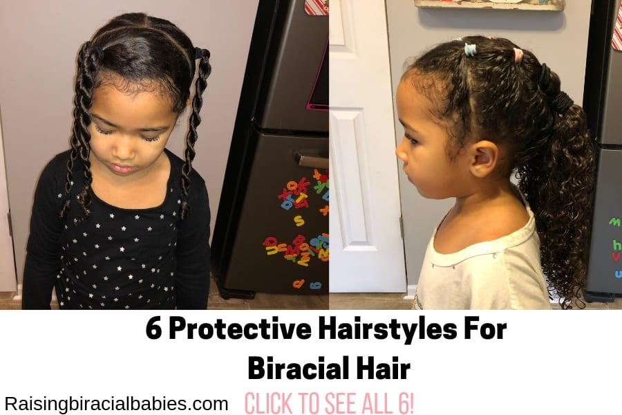 Great protective hairstyles for biracial hair.