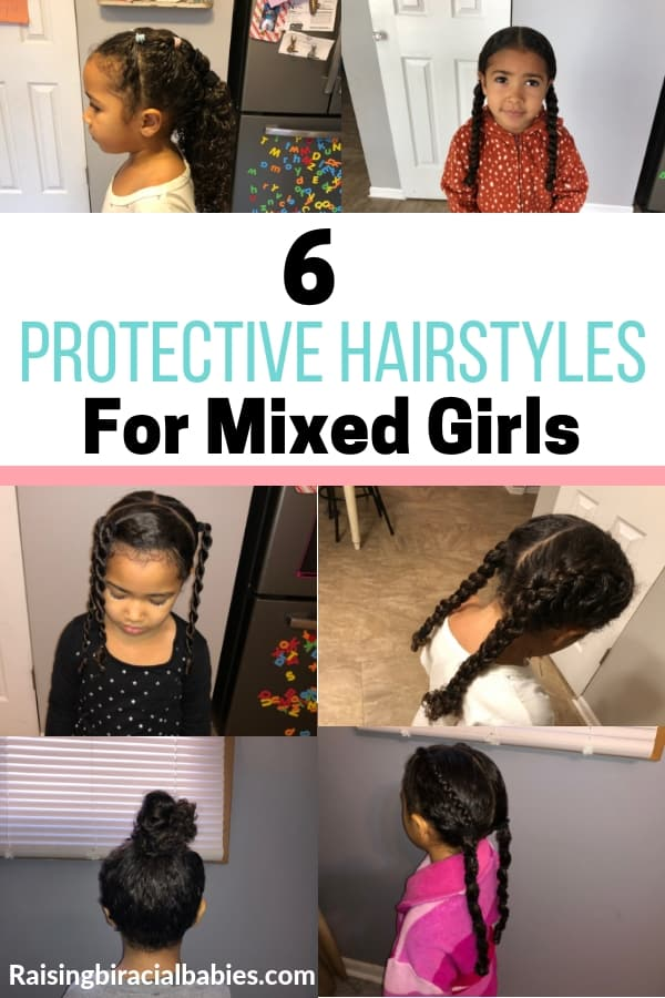 Looking for mixed girls hairstyles? Take a look at these great protective hairstyles for biracial hair!