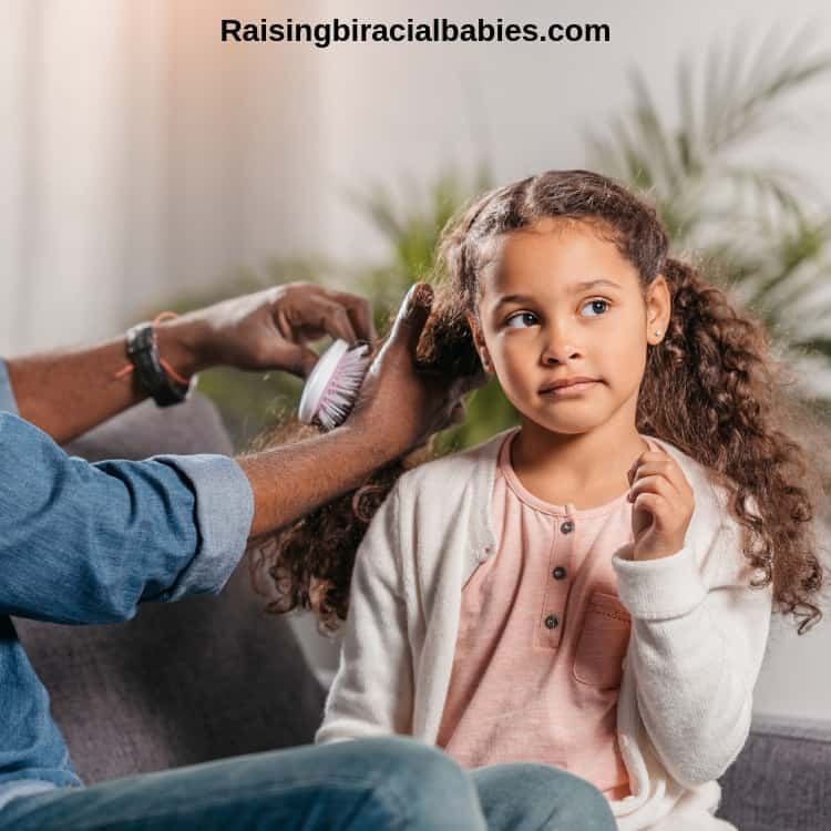 brushing biracial hair dry is one of twelve common mixed curly hair mistakes