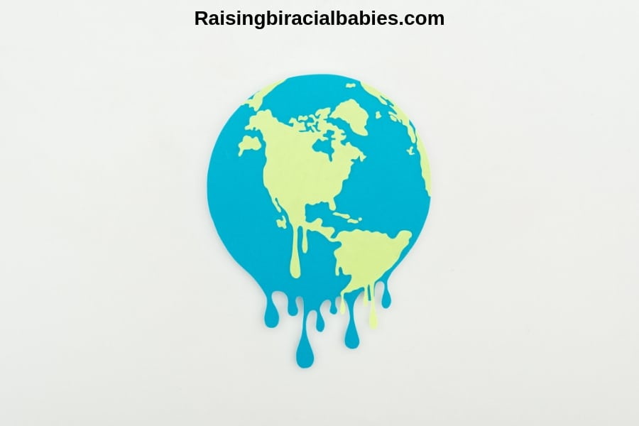 Cartoon of the Earth melting as a symbol of global warming and climate change.