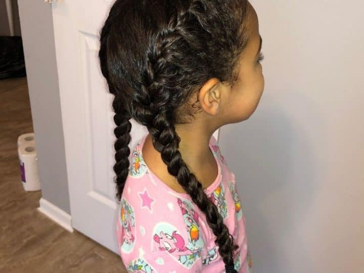 Braided Hairstyles For Mixed Hair: Tutorial For French Braid Pigtails